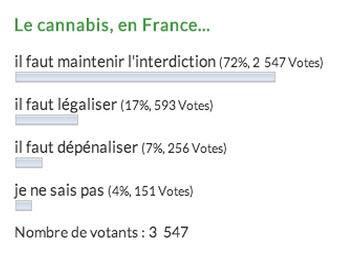 sondage Le cannabis en France