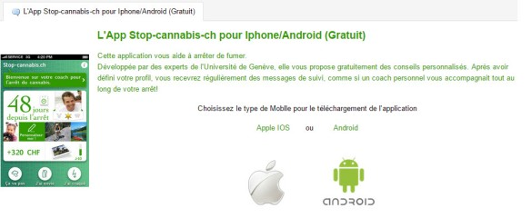 Application contre le cannabis